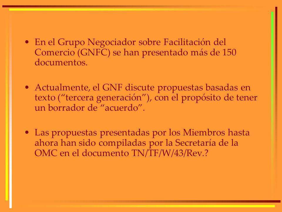 En el Grupo Negociador sobre Facilitación del Comercio (GNFC) se han presentado más de 150 documentos.