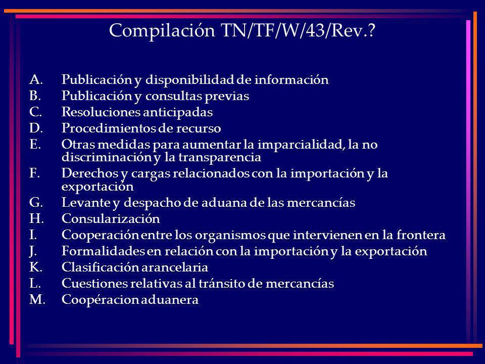 Compilación TN/TF/W/43/Rev..