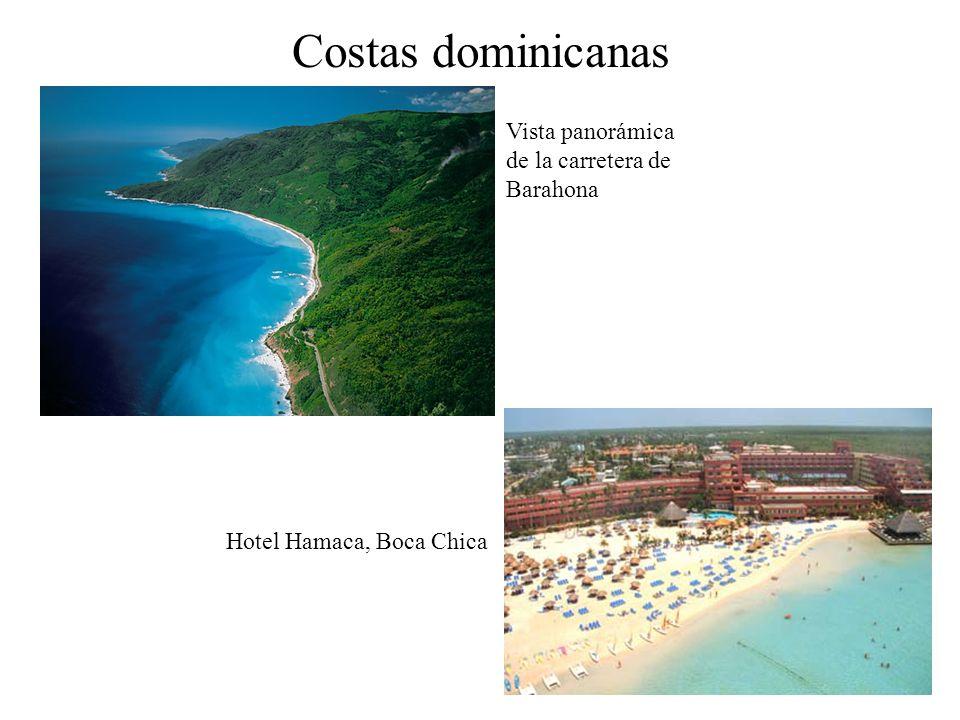 Vista panorámica de la carretera de Barahona Costas dominicanas Hotel Hamaca, Boca Chica