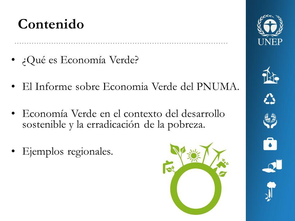Una Economía Verde es la que mejora el bienestar del ser humano y la equidad social, a la vez que reduce significativamente los riesgos ambientales y las escaseces ecológicas.