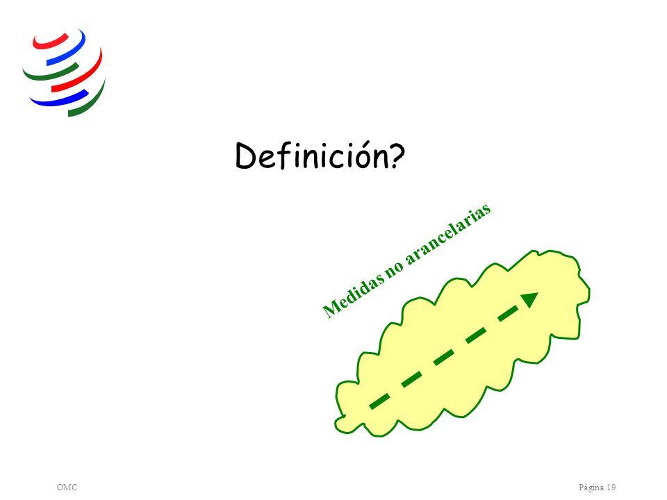 OMCPágina 19 Medidas no arancelarias Definición?