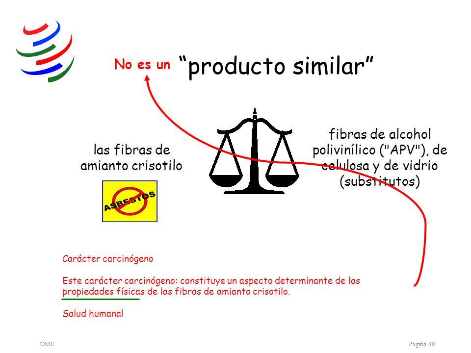 OMCPágina 40 producto similar fibras de alcohol polivinílico (