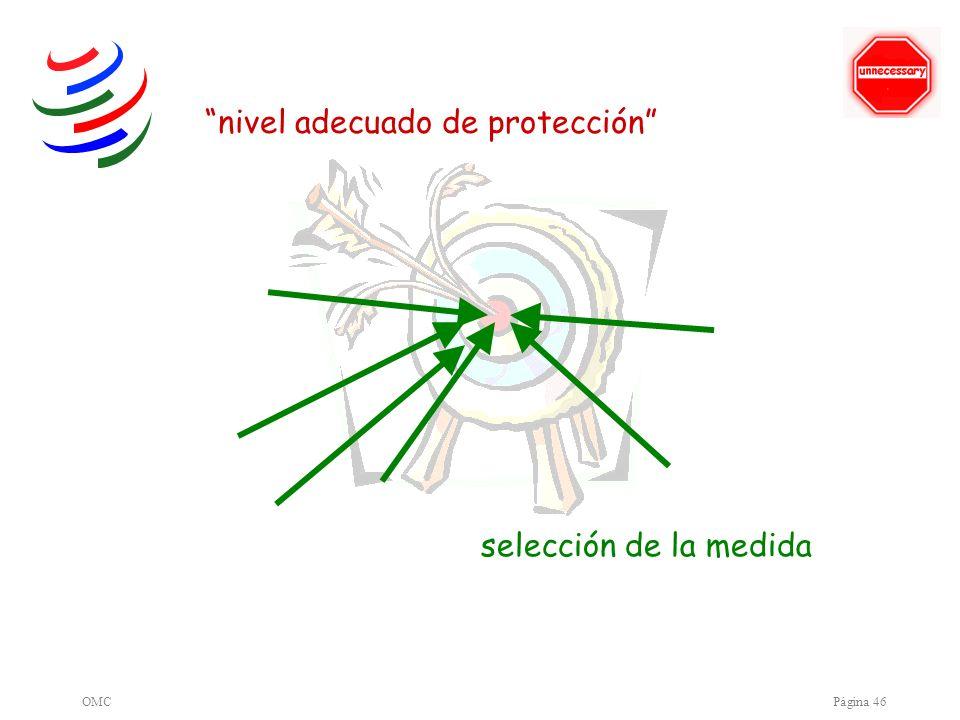 OMCPágina 46 nivel adecuado de protección selección de la medida