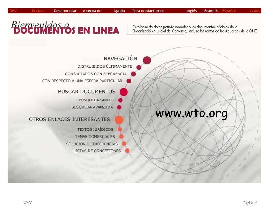 OMCPágina 6 www.wto.org