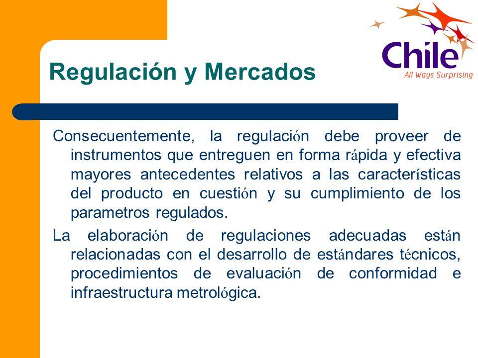 Regulación y Mercados Consecuentemente, la regulaci ó n debe proveer de instrumentos que entreguen en forma r á pida y efectiva mayores antecedentes r