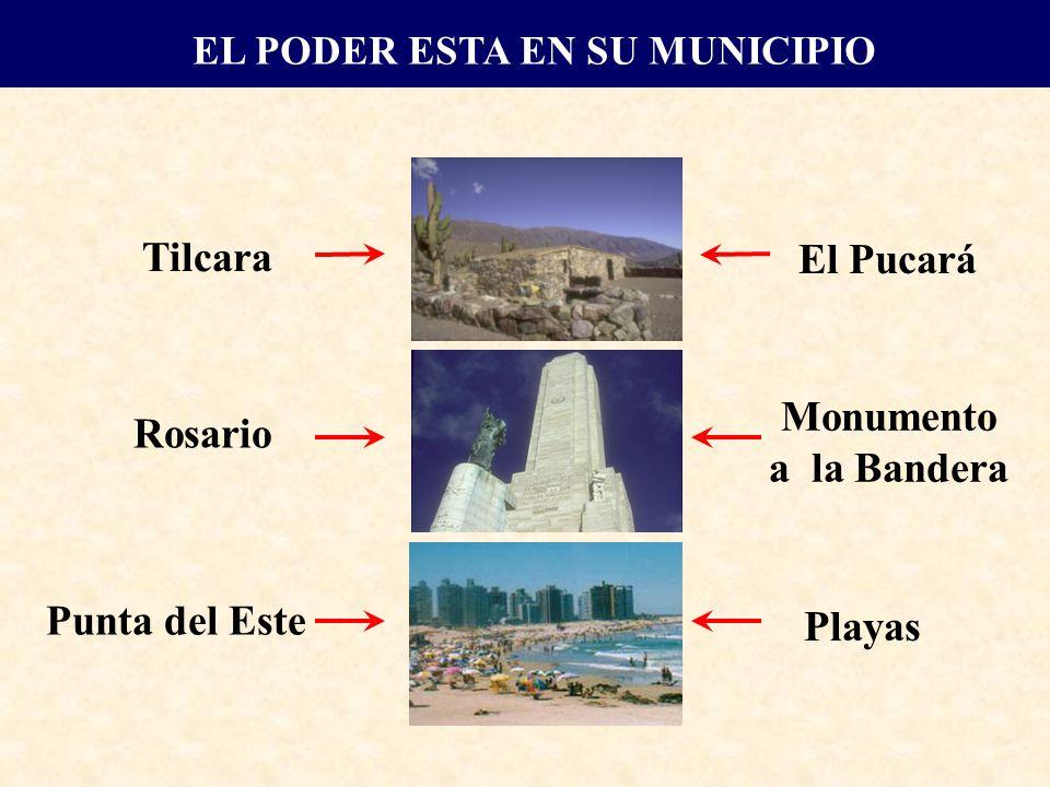 Tilcara El Pucará Rosario Monumento a la Bandera Punta del Este Playas EL PODER ESTA EN SU MUNICIPIO