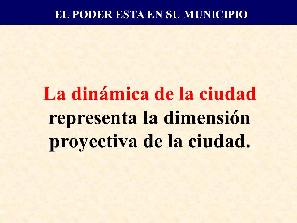 La dinámica de la ciudad representa la dimensión proyectiva de la ciudad.