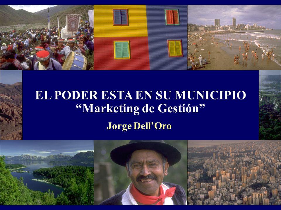 EL PODER ESTA EN SU MUNICIPIO Marketing de Gestión Jorge DellOro