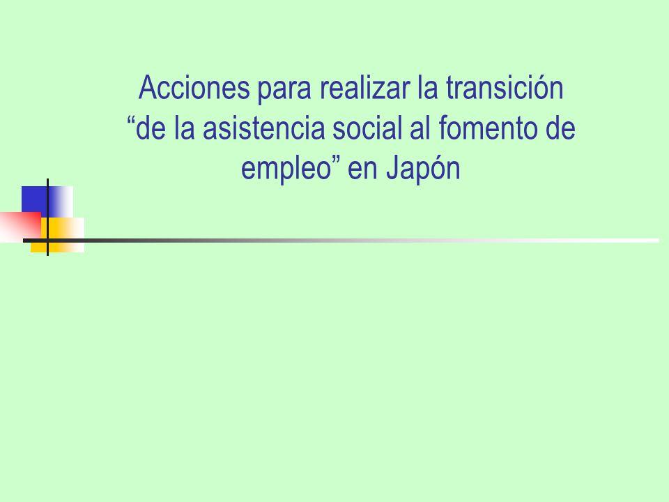 Acciones para realizar la transición de la asistencia social al fomento de empleo en Japón