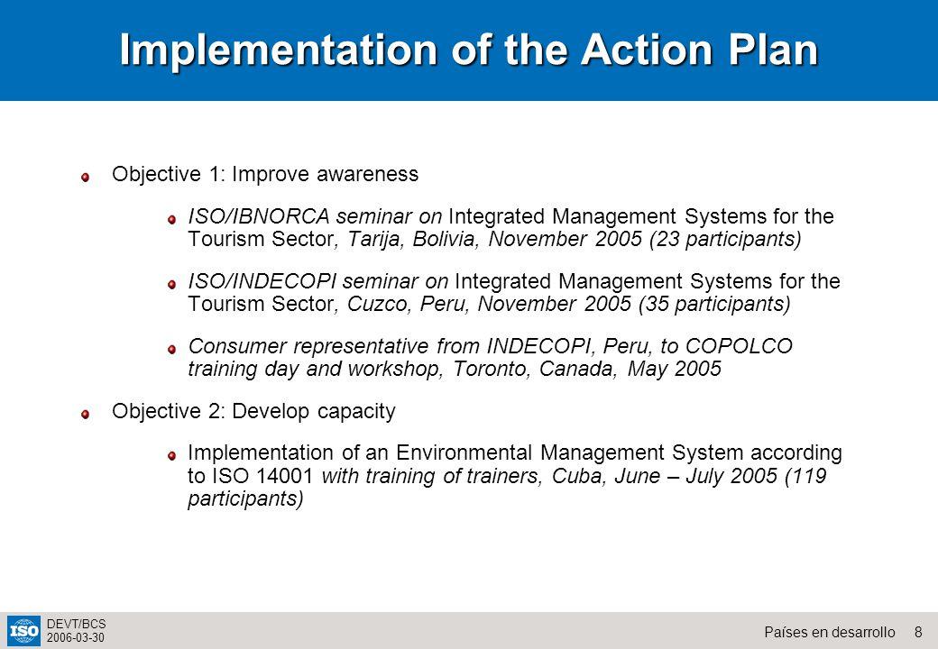 19Países en desarrollo DEVT/BCS 2006-03-30 Metrología, normalización y evaluación de conformidad