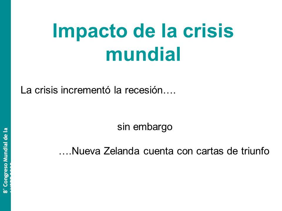 La crisis incrementó la recesión….