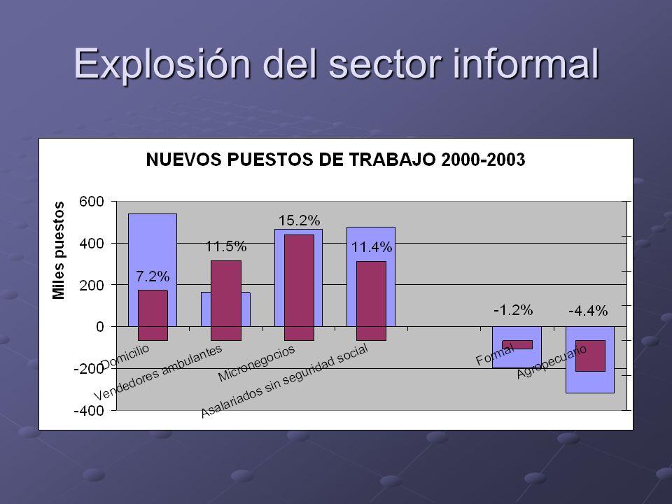 Explosión del sector informal
