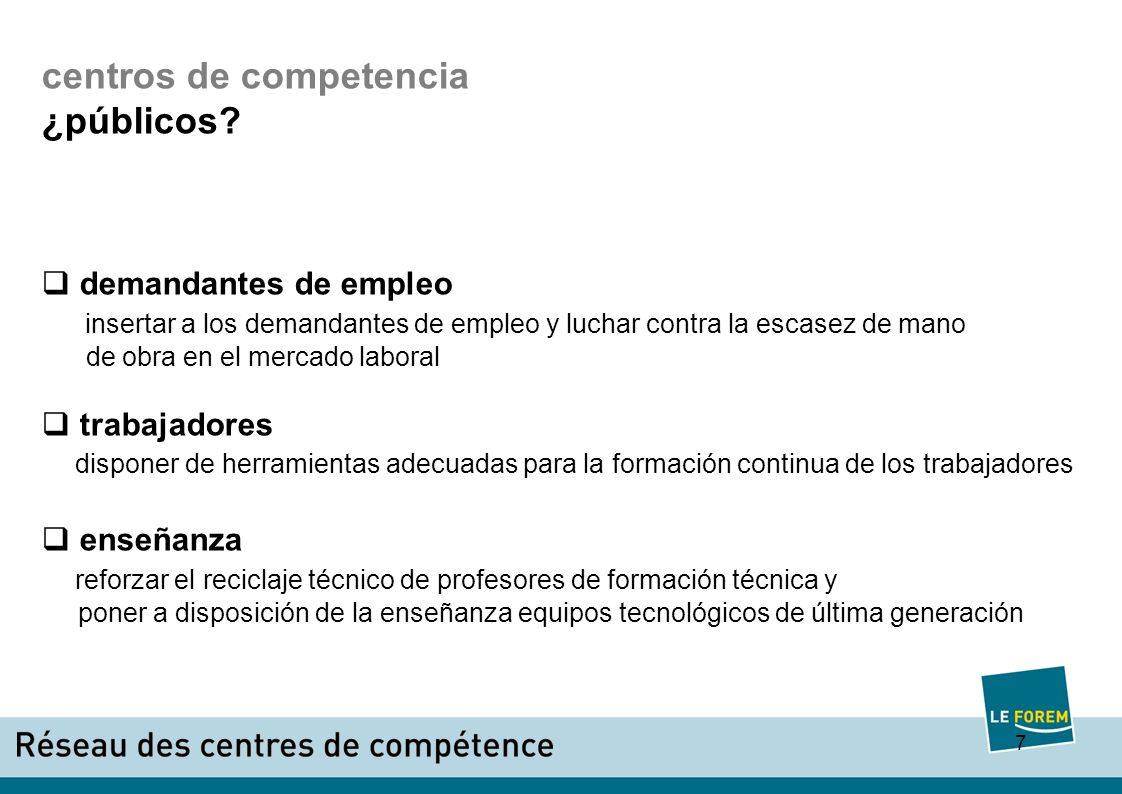 8 centros de competencia ¿cómo.