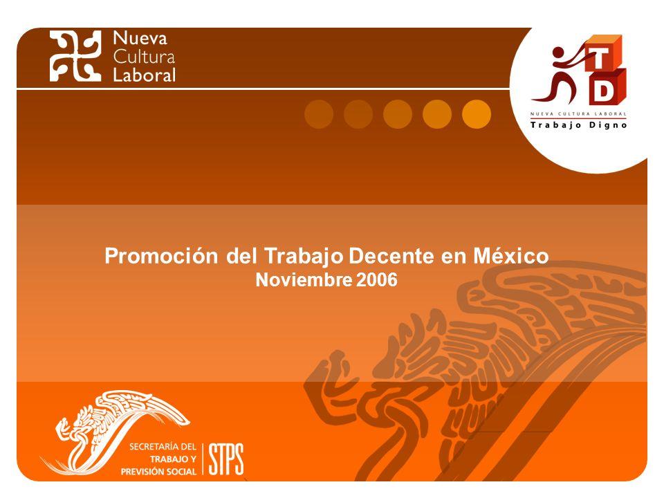 1 Promoción del Trabajo Decente en México Noviembre 2006