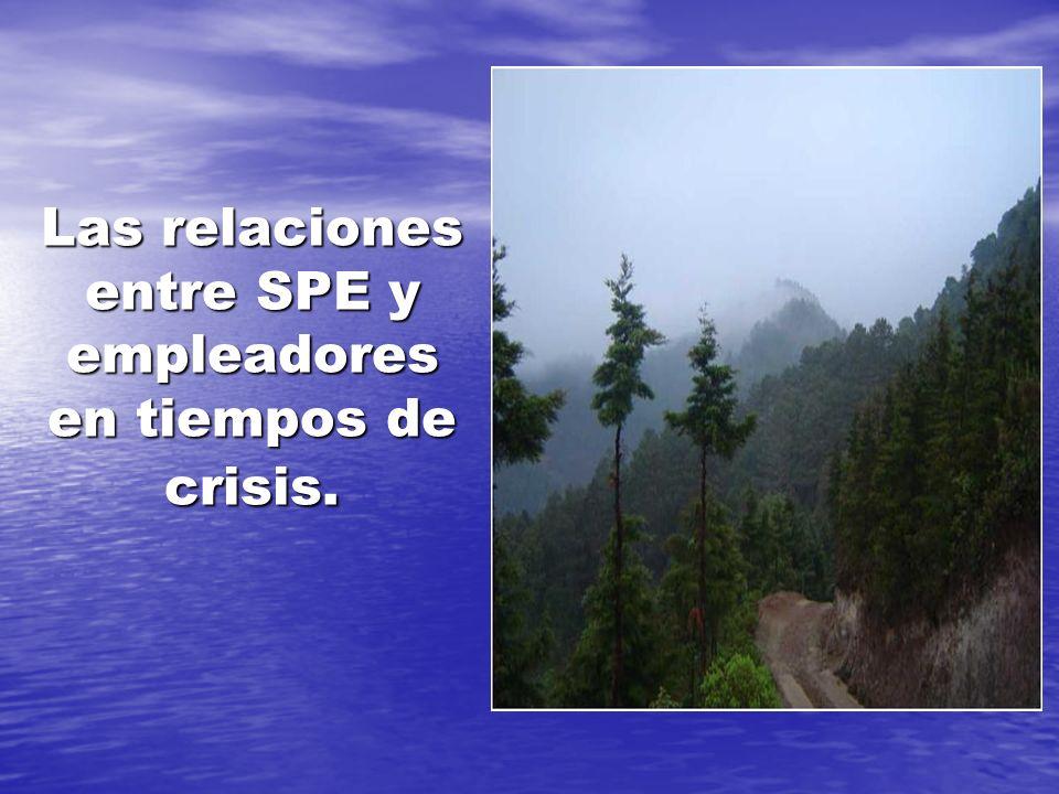 Las relaciones entre SPE y empleadores en tiempos de crisis.
