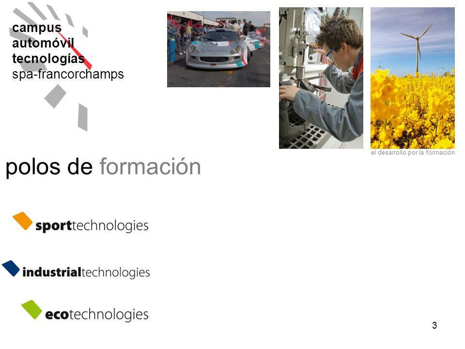 3 campus automóvil tecnologías spa-francorchamps polos de formación el desarrollo por la formación
