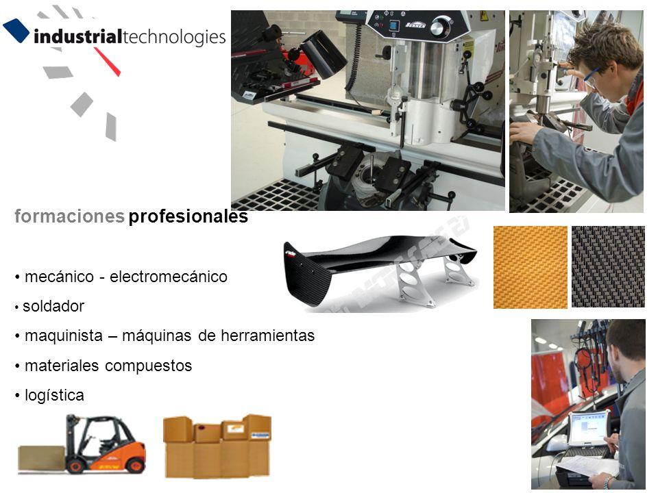 8 formaciones profesionales mecánico - electromecánico soldador maquinista – máquinas de herramientas materiales compuestos logística