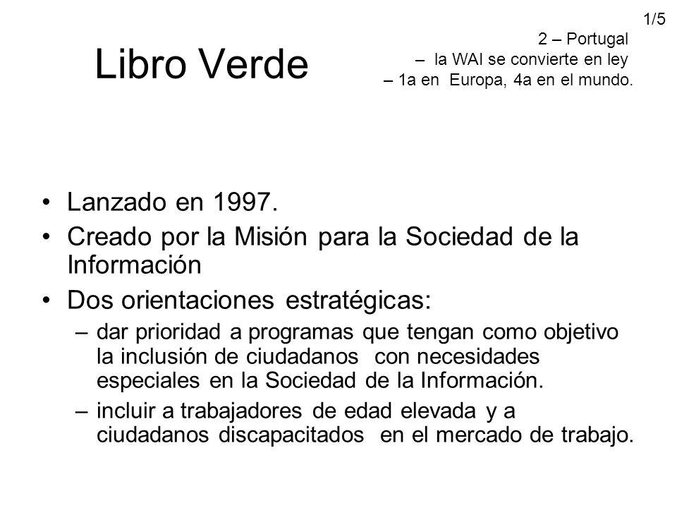 Libro Verde Lanzado en 1997.