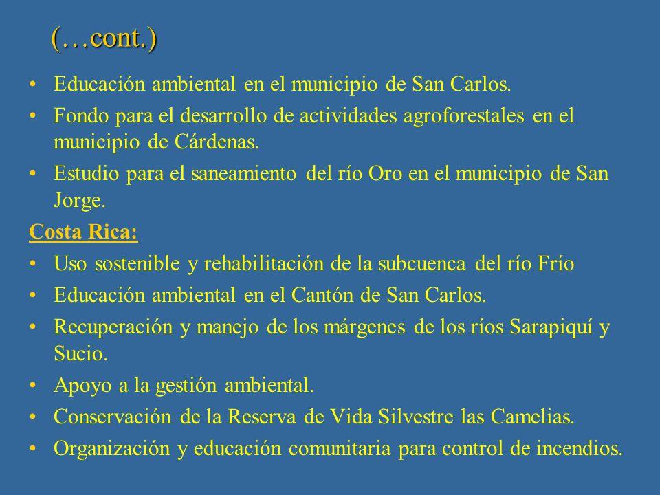 (…cont.) Costa Rica y Nicaragua: Estudio de los recursos costeros y marinos del área de conservación Tortuguero y de la Reserva Indio Maíz.