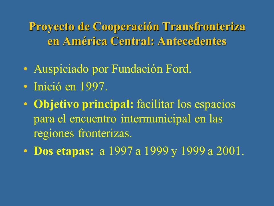 2. Fundación del Servicio Exterior para la Paz y la Democracia (FUNPADEM) Proyecto de Cooperación Transfronteriza en América Central