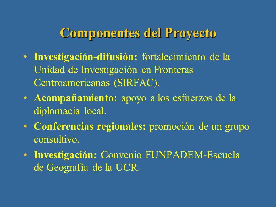 II Fase: junio 1999 a mayo 2001 Objetivo: desarrollo de poblaciones asentadas en las zonas fronterizas.