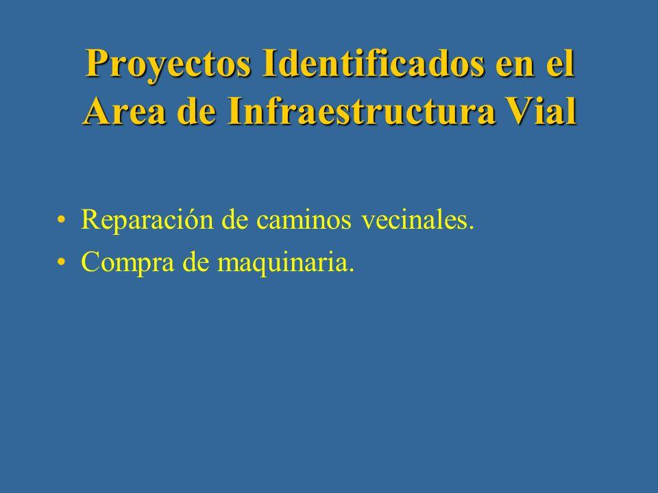 Proyectos Identificados en el Area de Educación Construcción de aulas y equipamiento escolar.