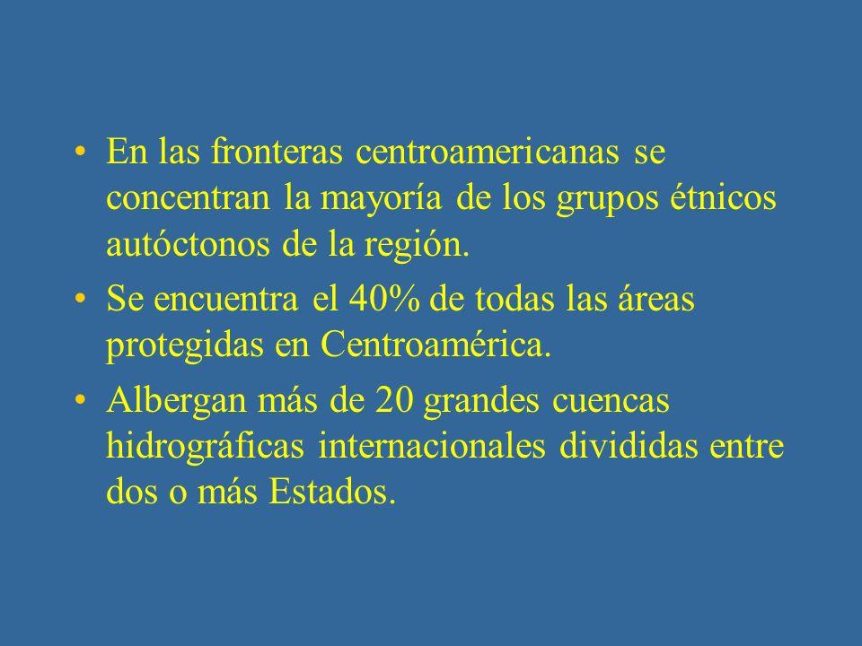 Generalidades de las Zonas Fronterizas de Centroamérica 7 países en una extensión de 523,160 km2.