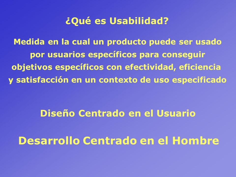 Usabilidad y Diseño Centrado en el Usuario.Métodos de Indagación en los procesos DCH.