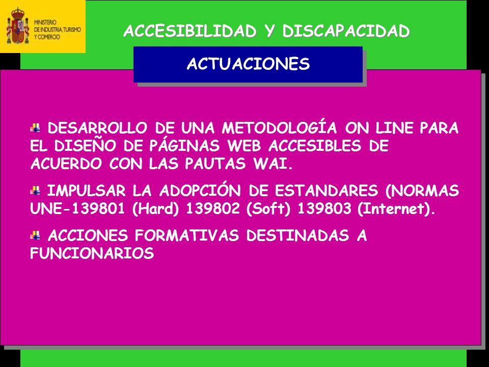 ACCESIBILIDAD Y DISCAPACIDAD DESARROLLO DE UNA METODOLOGÍA ON LINE PARA EL DISEÑO DE PÁGINAS WEB ACCESIBLES DE ACUERDO CON LAS PAUTAS WAI.