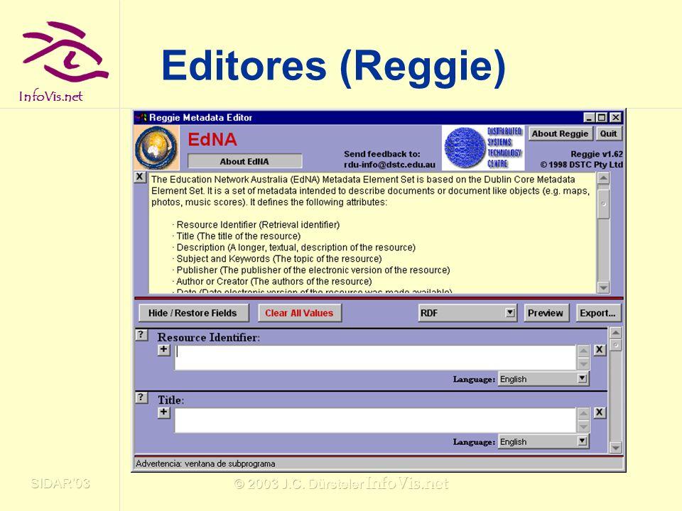InfoVis.net SIDAR03 © 2003 J.C. Dürsteler InfoVis.net Editores (Reggie)