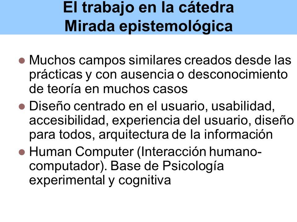 El trabajo en la cátedra Estrategias didácticas: Aportar elementos para una compresión de los diversos campos.