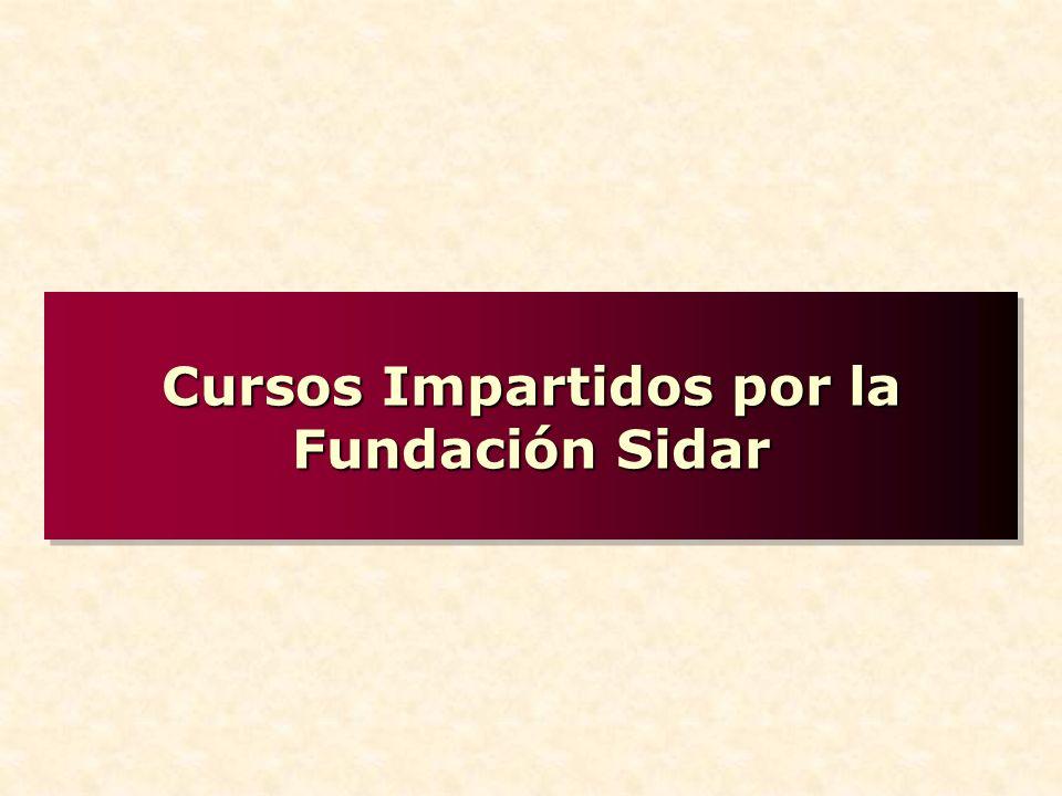 Cursos Impartidos por la Fundación Sidar