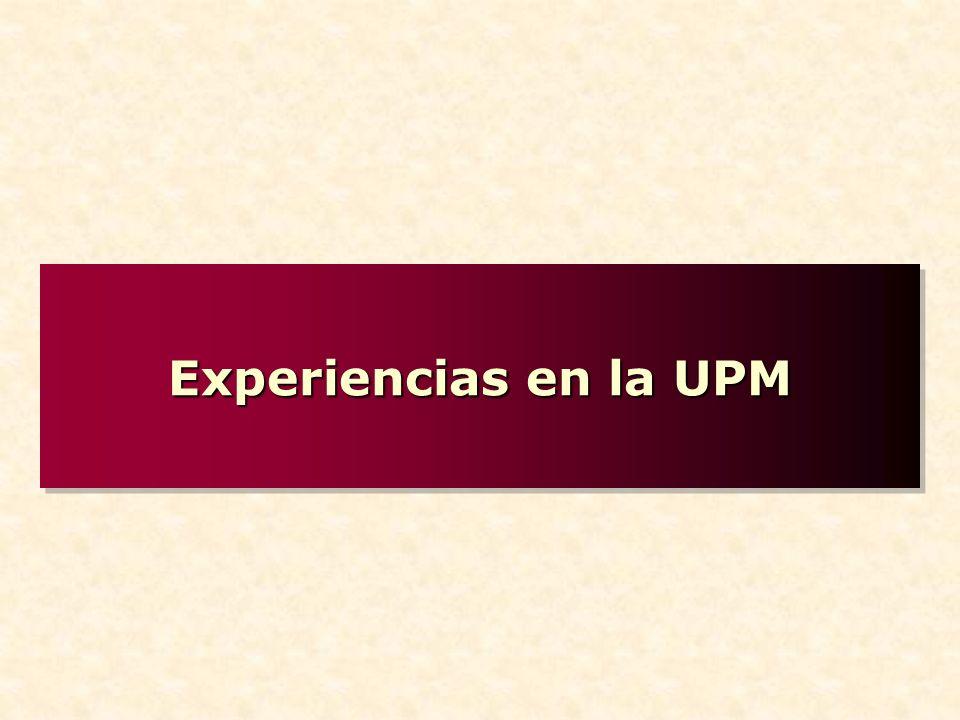 Experiencias en la UPM