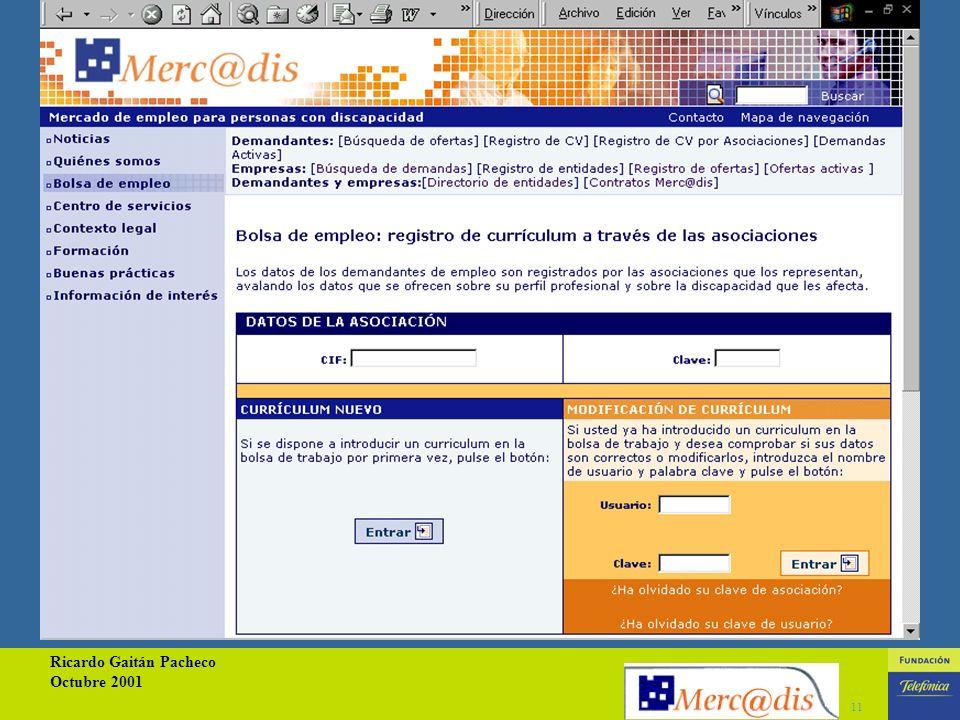 Ricardo Gaitán Pacheco Octubre 2001 10