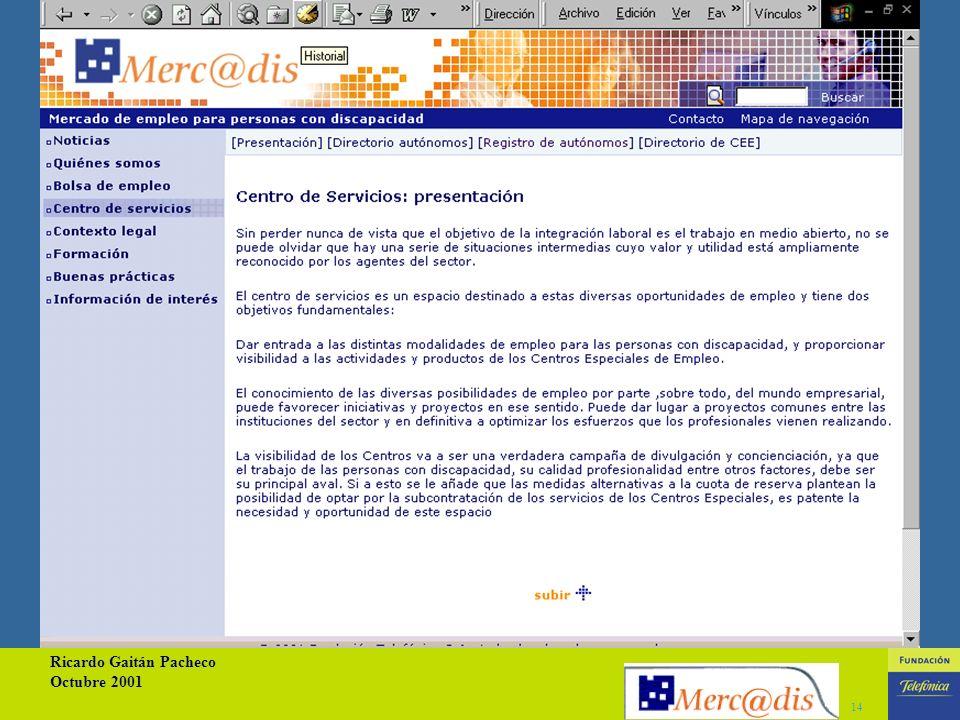 Ricardo Gaitán Pacheco Octubre 2001 13