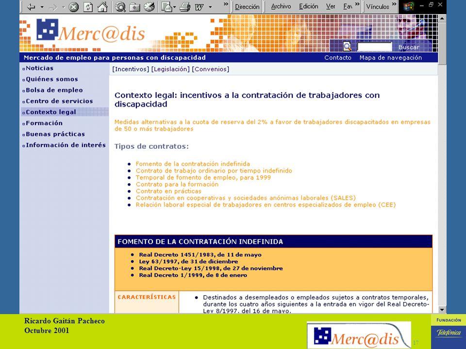 Ricardo Gaitán Pacheco Octubre 2001 16