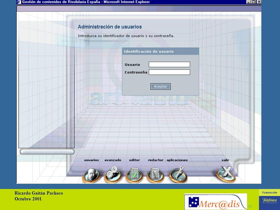 Ricardo Gaitán Pacheco Octubre 2001 18