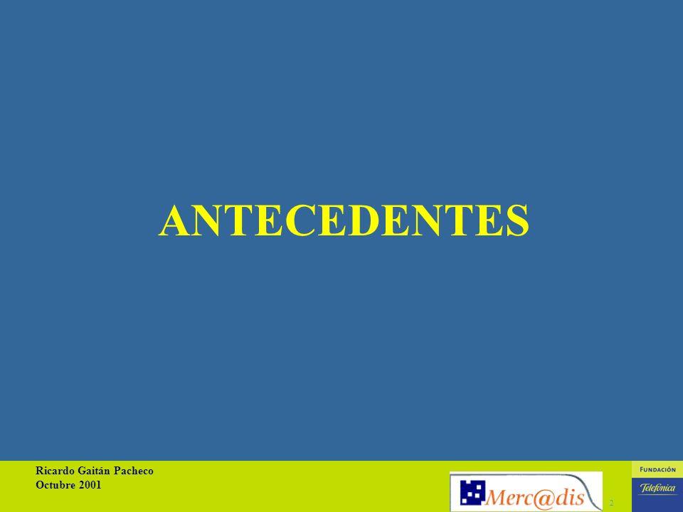 Ricardo Gaitán Pacheco Octubre 2001 2 ANTECEDENTES
