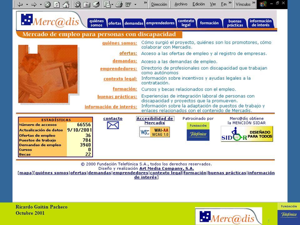 Ricardo Gaitán Pacheco Octubre 2001 15
