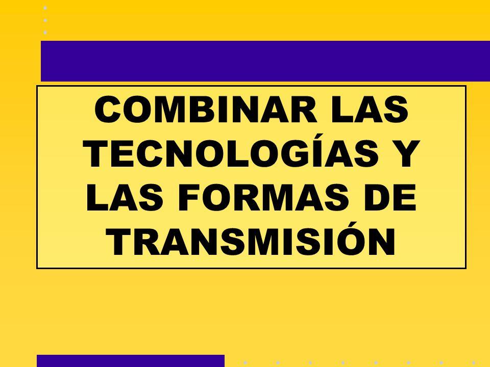 COMBINAR LAS TECNOLOGÍAS Y LAS FORMAS DE TRANSMISIÓN