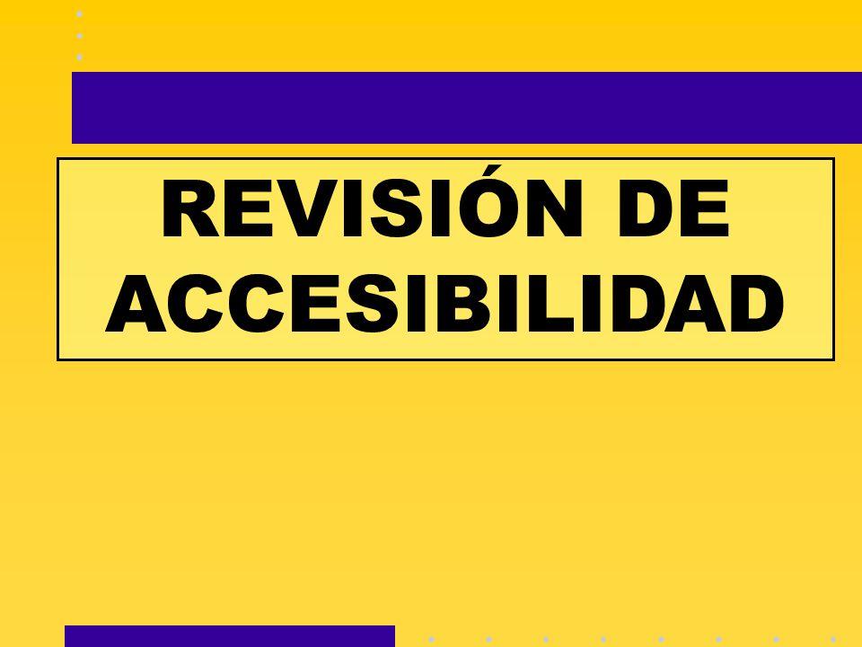REVISIÓN DE ACCESIBILIDAD
