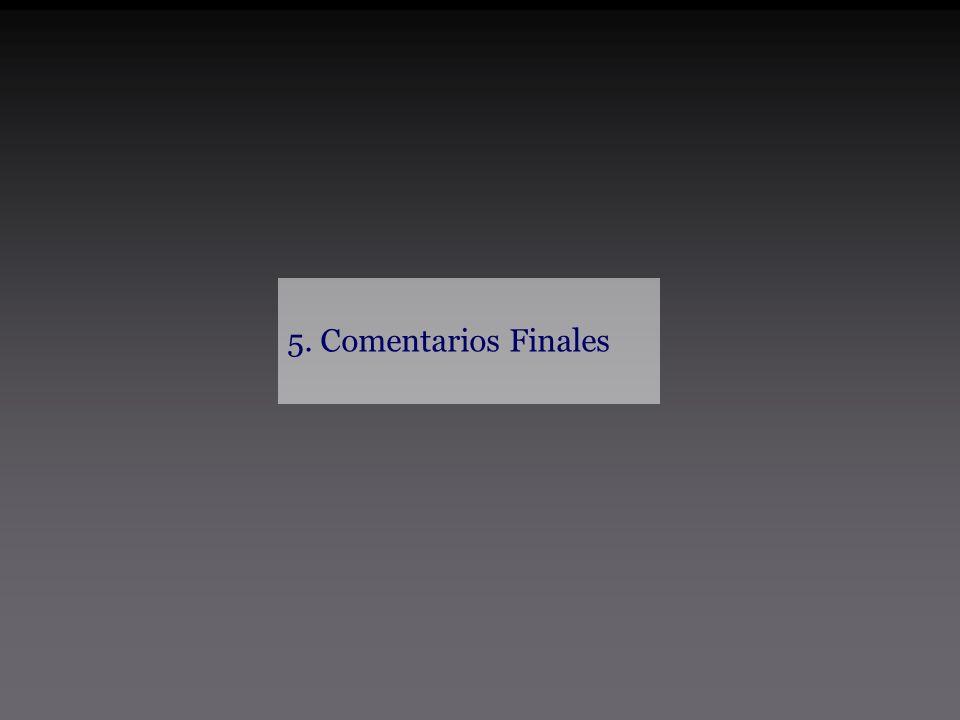 5. Comentarios Finales