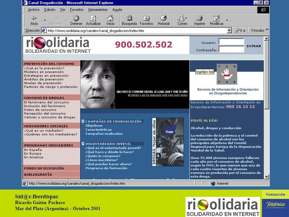 Sid@r-Iberdispac Ricardo Gaitán Pacheco Mar del Plata (Argentina) - Octubre 2001 13