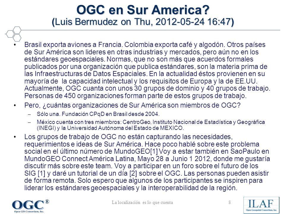 ® Brasil exporta aviones a Francia. Colombia exporta café y algodón.