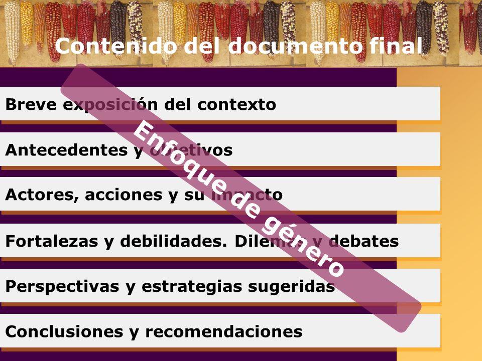 La Campaña Sin maíz no hay país debe continuar Horizonte Permanente con plazos y metas claros (2008).