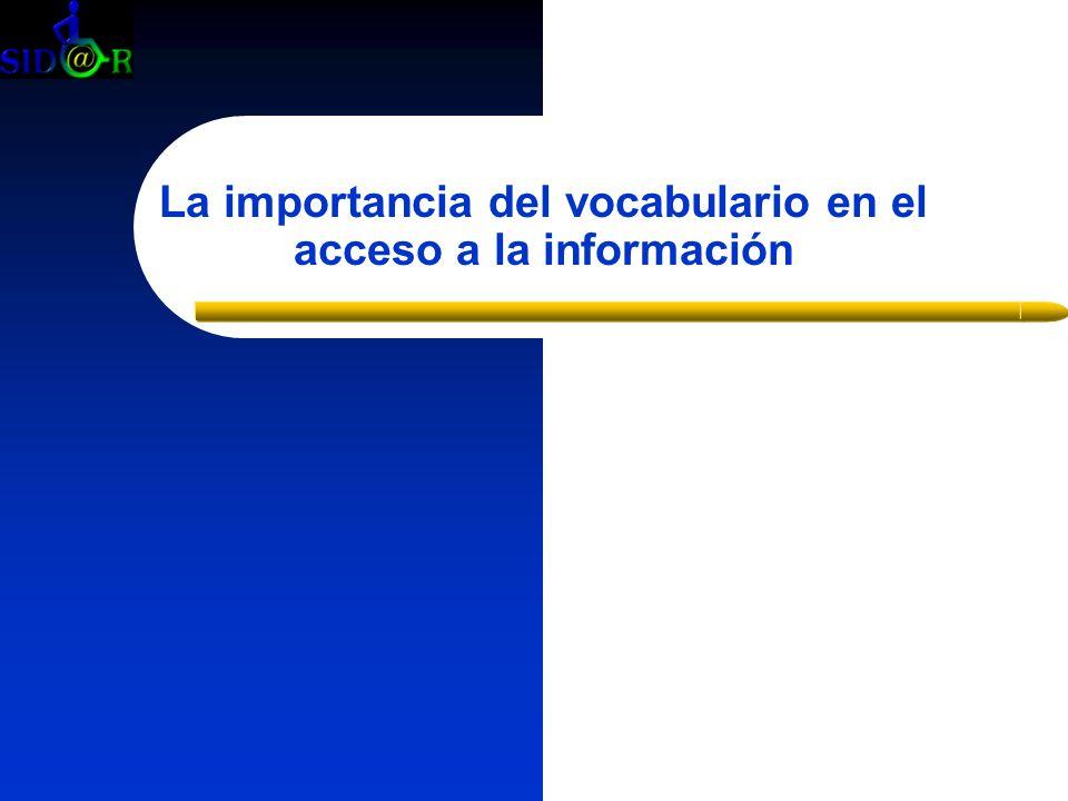 La importancia del vocabulario en el acceso a la información