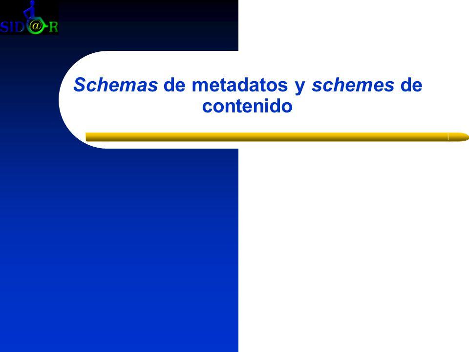 Schemas de metadatos y schemes de contenido