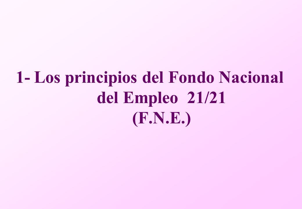 1- Los principios del Fondo Nacional del Empleo 21/21 (F.N.E.)