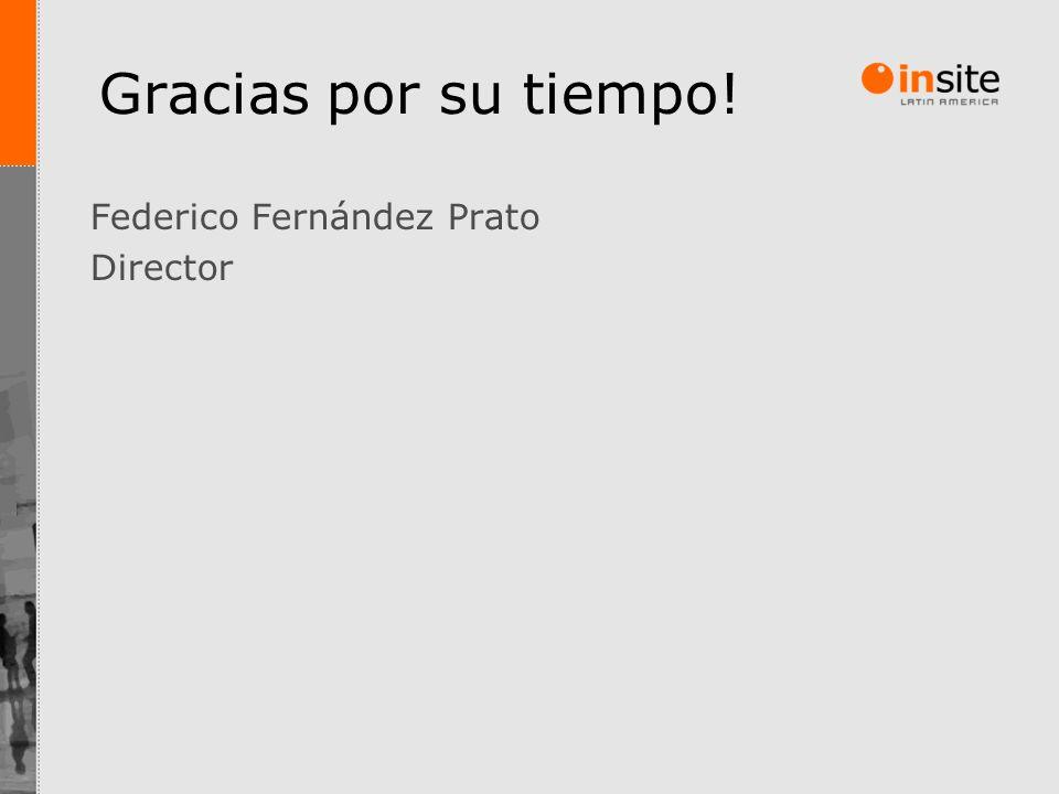 Gracias por su tiempo! Federico Fernández Prato Director