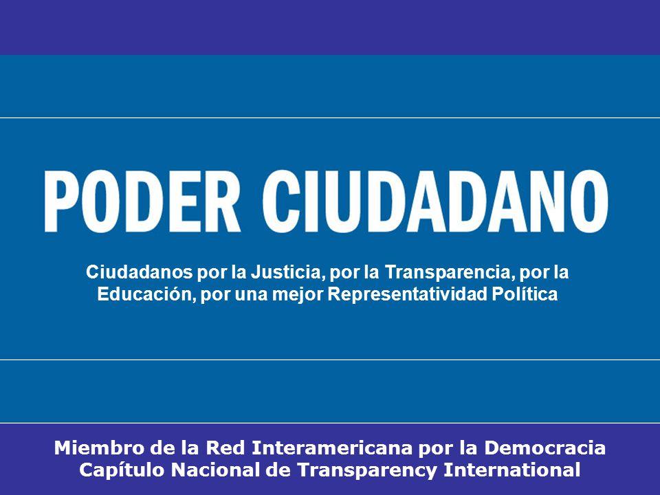 Miembro de la Red Interamericana por la Democracia Capítulo Nacional de Transparency International Ciudadanos por la Justicia, por la Transparencia, p